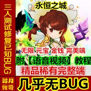 【踏月网单】永恒之城2D网游单机版 至尊VIP GM工具修改 一键端游戏